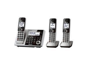 Panasonic  KX-TGF373S  3X  Handsets Cordless BT TAD 3 Handsets Slv