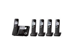 Panasonic KX-TGF345B 5X Handsets Crdles BT TAD 5 Hndsets Slv Bk