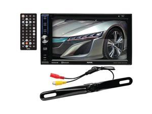 "6.2"" Double-DIN In-Dash Touchscreen DVD Receiver with Bluetooth(R) (With Backup Camera) - DD764BR"