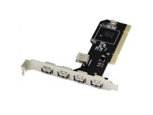 Low Profile 4+1 Port USB 2.0 PCI Add-on Card NEC Chipset