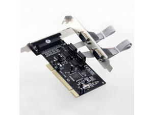Combo 2 X RS232 Com Port + 1 DB25 Parallel Printer Port LPT PCI Card