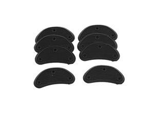 Men Replacement Shoes Repair Black Plastic Heels 8 Pcs