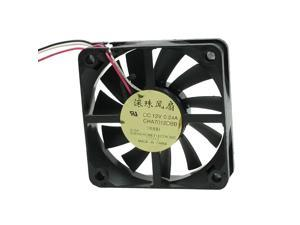 DC 12V 0.24A 60mm 15mm Computer Case Fan Double Ball Bearing Design