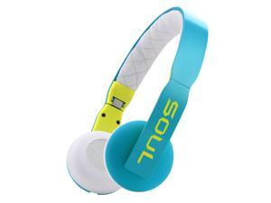 Soul Loop Ultra Lightweight Headphones w/ Mic Control - Blue