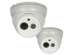 "2x CCTV Dome Camera Security Color 1/4"" CMOS 800TVL 4mm Lens Array LED IR Cut"