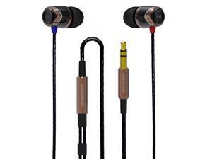 SoundMAGIC E10 Noise Isolating In-Ear Earphones, Black & Gold