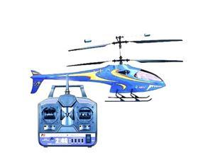 Microgear Remote Control RC Co-Axial 4 Channels LAMA V6 Silver Helicopter RTF - Blue