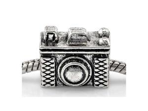 Antique Silver Pandora Style Vintage Camera Charm Bead