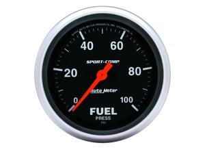Auto Meter 3563 Sport-Comp Electric Fuel Pressure Gauge