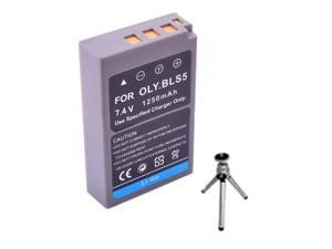 Replacement Battery for Specific Digital Camera and Camcorder Models / Compatible with OLYMPUS BLS-5 - Includes Mini Tripod ...