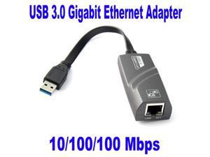 Baaqii USB 3.0 to Ethernet Lan Network RJ45 Port Adapter 10/ 100/ 1000Mbps  1 x RJ45