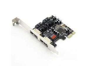Baaqii A251 PCI-E PCI-Express to 3 Gbps 2 eSATA 2 SATA II Adapter Converter Card