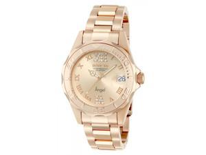 Invicta Women's 14398 Angel Quartz 3 Hand Rose Gold Dial Watch