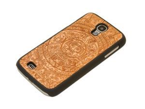 CARVED Aztec Calendar Engraved Cherry Galaxy S4 Matte Black Case - Wood
