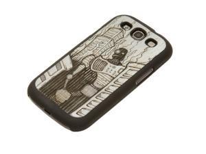 CARVED Monochrome Robot Doom Galaxy S3 Matte Black Case - Wood
