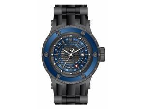 Invicta Men's 16818 Subaqua Quartz 3 Hand Gunmetal, Blue Dial Watch