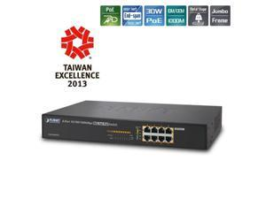 Planet GSD-808HP2 8-Port 10/100/1000Mbps 802.3at PoE Desktop Switch - 240W
