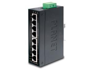 Planet ISW-801T 8-Port 10/100Mbps Industrial Fast Ethernet Switch for Wide Operating Temperature