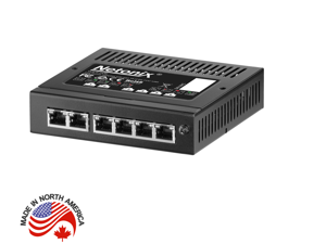 Netonix WS-6-MINI Wisp Switch Managed PoE+ Gigabit Switch 24 and 48 Volt PoE