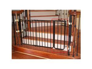 Wrought Iron Decor Gate Extension - Black
