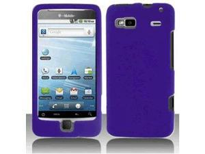 HTC G2 Vanguard T-Mobile Front  and  Back Plastic Case, Purple-4059