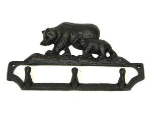 "IWGAC 0154-17198 6""W x 4 5/8""H Cast Iron Bear key Hook"