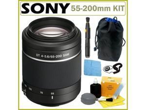 Sony DSLR Alpha SAL-55200 Telephoto Zoom Lens + Accessory Kit