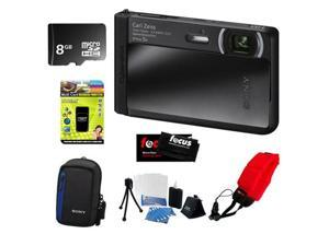 "Sony DSC-TX30/B 18 MP Digital Camera with 5x Optical Image Stabilized Zoom and 3.3"" OLED (Black) + Accessory Kit"