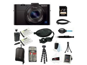 Sony RX100 DSC-RX100M II Cyber-shot Digital Still Camera Bundle with Sony 32GB Memory Card + Wasabi Power Replacement Battery ...
