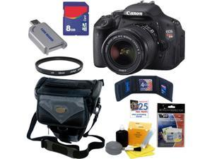 Canon t3i Canon EOS Rebel T3i 18 MP CMOS Digital SLR Camera with EF-S 18-55mm f/3.5-5.6 IS II Zoom Lens + 7pc Bundle 8GB ...