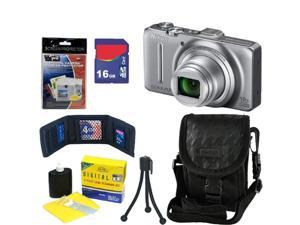 NIKON COOLPIX S9300 16 MP CMOS Digital Camera (Silver) + 16GB Accessory Kit