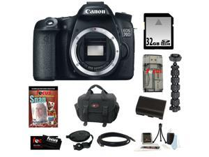Canon 70d EOS 70D 20.2 MP Digital SLR Camera w/ Dual Pixel CMOS AF (Body Only) + 32GB Memory Card + Replacement Battery + ...