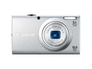 CANON PowerShot A2400 IS 16.0 MP Digital Camera with 5x Optical Image Stabilized Zoom 28mm Wide-Angle Lens with 720p Full ...