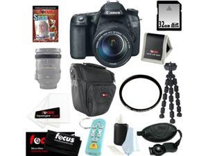 CANON EOS 70D SLR CMOS 20.2MP Digital Camera EFS 18-135mm Lens + 32GB Memory Card + Tiffen 67mm UV Protector + Kit