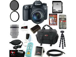 Canon 70d EOS 70D SLR CMOS 20.2MP Digital Camera EFS 18-135mm Lens + 32GB Memory Card + Tiffen 67mm UV Protector & Circular ...
