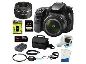 "Sony a58 Sony SLT-A58K SLT-A58 with 18-55mm Zoom Lens, 20.1MP DSLR Camera w/ 2.7"" LCD Screen (Black) + Sony SAL-30M28 DT ..."