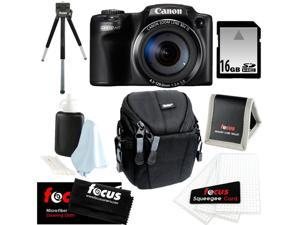 CANON Powershot SX510 HS CMOS 12.1MP 1080p 30x Optical Zoom Digital Camera + 16GB Memory Card + Vivitar Small Camcorder Case ...