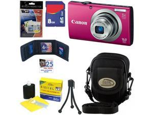 CANON PowerShot A2300 16.0 MP Digital Camera with 5x Digital Image Stabilized Zoom (Red) + 8GB Accessory Kit
