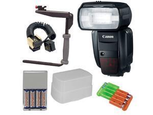 Canon Speedlite 600EX-RT Flash + 5pc Best Flash Kit for Canon EOS 1D, 1DS, 1D X, 5D Mark II III, 60D, 7D, Rebel T3, T3i, ...