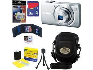 CANON PowerShot A2600 IS 16.0 MP Digital Camera with 5x Optical Zoom and 720p Full HD Video Recording (Silver) + 6pc Bundle ...