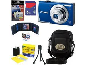 CANON PowerShot A2600 IS 16.0 MP Digital Camera with 5x Optical Zoom and 720p Full HD Video Recording (Blue) + 6pc Bundle ...