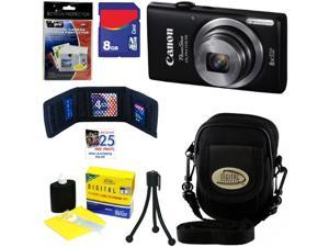Canon PowerShot ELPH 115 IS 16.0 MP Digital Camera with 8x Optical Zoom and 720p HD Video Recording + 6pc Bundle 8GB Accessory ...