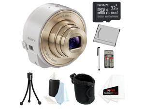 Sony DSC-QX10 QX10 QX10W 18MP Smartphone Interchangeable Attachable Lens-Style Camera with 10x Optical Zoom and NFC/ Wi-Fi ...