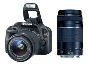 Canon EOS Rebel SL1 18.0 MP CMOS Digital SLR with 18-55mm EF-S IS STM Lens + Canon EF 75-300mm f/4-5.6 III Telephoto Zoom ...