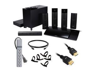 Sony BDVN790W BDV-N790W 3D Blu-ray 5.1 Channel Home Theater System + Gold Tipped Black HDMI Cable (6 ft.) + Accessory Kit