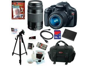 Canon t3 Canon EOS Rebel T3 12.2 MP CMOS Digital SLR Camera with EF-S 18-55mm f/3.5-5.6 IS II Zoom Lens & EF 75-300mm f/4-5.6 ...