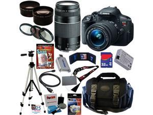 Canon t5i EOS Rebel T5i 18.0 MP CMOS Digital Camera with EF-S 18-55mm f/3.5-5.6 IS STM Zoom Lens + EF 75-300mm f/4-5.6 III ...