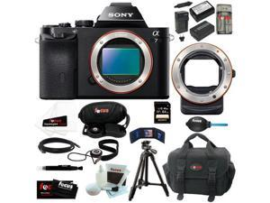 Sony ILCE7/B ILCE-7B ILCE7B 24.3 MP a7 Full-Frame Interchangeable Digital Lens Camera (Body Only) + Sony LA-EA3 A-Mount to ...