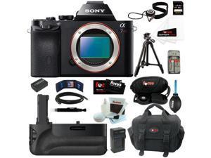 Sony 36.3 MP a7R ILCE7R/B ILCE7RB ILCE7R Full-Frame Interchangeable Digital Lens Camera (Body Only) + Sony VGC1EM Digital ...