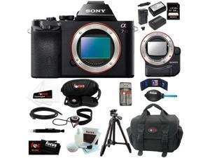 Sony 36.3 MP a7R ILCE7R/B ILCE7RB ILCE7R Full-Frame Interchangeable Digital Lens Camera (Body Only) + Sony LA-EA4 E-Mount ...